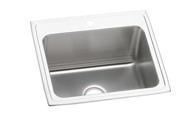 "Image for Elkay Lustertone Stainless Steel 25"" x 21-1/4"" x 10-1/8"", Single Bowl Top Mount Sink from ELKAY"