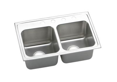 "Image for Elkay Gourmet Stainless Steel 29"" x 18"" x 10"", Equal Double Bowl Top Mount Sink from ELKAY"