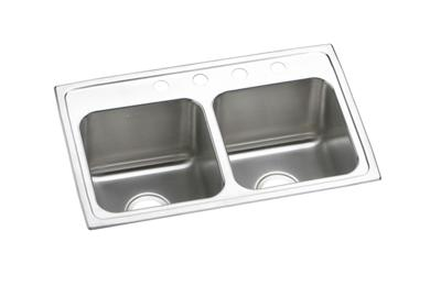 "Image for Elkay Lustertone Stainless Steel 29"" x 18"" x 10"", Equal Double Bowl Top Mount Sink from ELKAY"