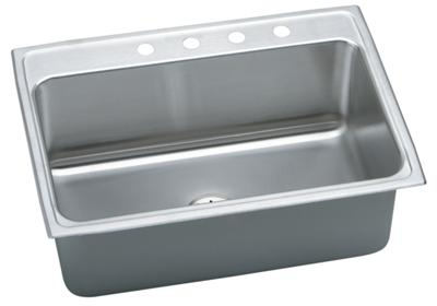 "Image for Elkay Gourmet Stainless Steel 31"" x 22"" x 10-1/8"", Single Bowl Top Mount Sink with Perfect Drain from ELKAY"