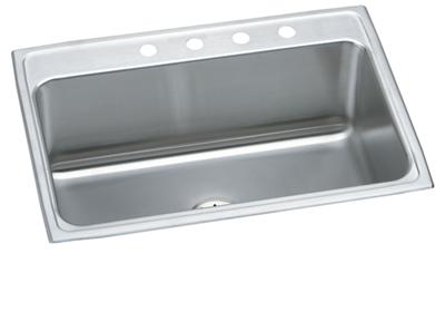 "Image for Elkay Lustertone Stainless Steel 31"" x 22"" x 10-1/8"", Single Bowl Top Mount Sink with Perfect Drain from ELKAY"