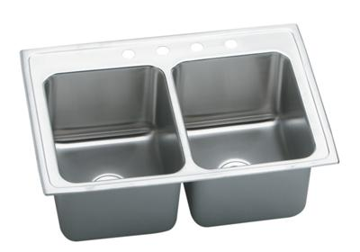 "Image for Elkay Gourmet Stainless Steel 33"" x 22"" x 12-1/8"", Equal Double Bowl Top Mount Sink from ELKAY"