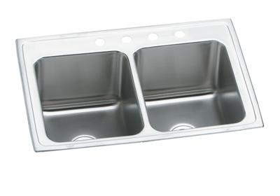 "Image for Elkay Lustertone Classic Stainless Steel 33"" x 22"" x 12-1/8"", Equal Double Bowl Top Mount Sink from ELKAY"