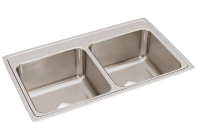 "Image for Elkay Lustertone Classic Stainless Steel 37"" x 22"" x 10-1/8"", Equal Double Bowl Drop-in Sink from ELKAY"