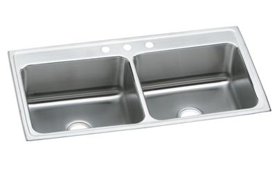 "Image for Elkay Lustertone Stainless Steel 43"" x 22"" x 12-1/8"", Equal Double Bowl Top Mount Sink from ELKAY"