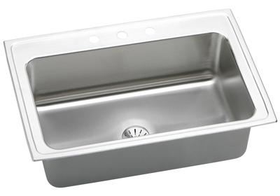 "Image for Elkay Lustertone Stainless Steel 33"" x 22"" x 10"", Single Bowl Top Mount Sink with Perfect Drain from ELKAY"