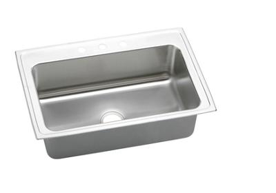 "Image for Elkay Gourmet Stainless Steel 33"" x 22"" x 10-1/8"", Single Bowl Top Mount Sink from ELKAY"