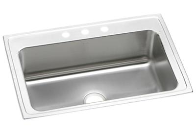"Image for Elkay Lustertone Stainless Steel 33"" x 22"" x 10-1/8"", Single Bowl Top Mount Sink from ELKAY"