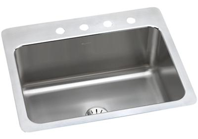 "Image for Elkay Lustertone Stainless Steel 27"" x 22"" x 10"", Single Bowl Dual Mount Sink with Perfect Drain from ELKAY"