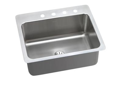 "Image for Elkay Gourmet Stainless Steel 27"" x 22"" x 10"", Single Bowl Dual Mount Sink with Perfect Drain from ELKAY"