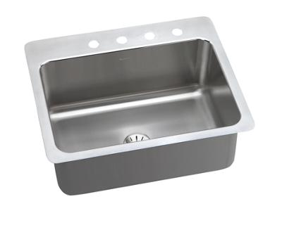 Image for Gourmet (Lustertone) Stainless Steel Single Bowl Dual / Universal Mount Sink Kit from elkay-consumer