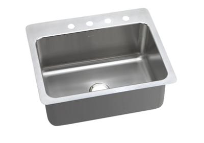 "Image for Elkay Lustertone Stainless Steel 27"" x 22"" x 10"", Single Bowl Dual Mount Sink from ELKAY"