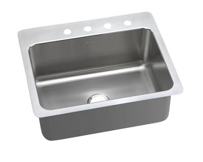 Image for Gourmet (Lustertone) Stainless Steel Single Bowl Dual / Universal Mount Sink from elkay-consumer