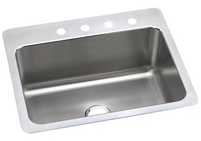 "Image for Elkay Lustertone Classic Stainless Steel 27"" x 22"" x 10"", Single Bowl Dual Mount Sink from ELKAY"