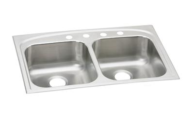 "Image for Dayton Stainless Steel 33"" x 22"" x 7-7/8"", Equal Double Bowl Top Mount Sink from ELKAY"