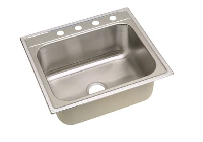 "Image for Dayton Stainless Steel 25"" x 22"" x 10-1/4"", Single Bowl Top Mount Sink from ELKAY"