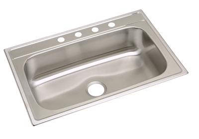 "Image for Dayton Stainless Steel 33"" x 22"" x 8-1/4"", Single Bowl Top Mount Sink from ELKAY"