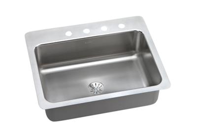 "Image for Dayton Stainless Steel 27"" x 22"" x 8"", Single Bowl Dual Mount Sink with Perfect Drain from ELKAY"