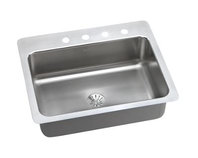 Image for Dayton Premium Stainless Steel Single Bowl Dual / Universal Mount Sink Kit from elkay-consumer
