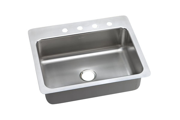 Dayton Premium Stainless Steel Single Bowl Dual / Universal Mount Sink