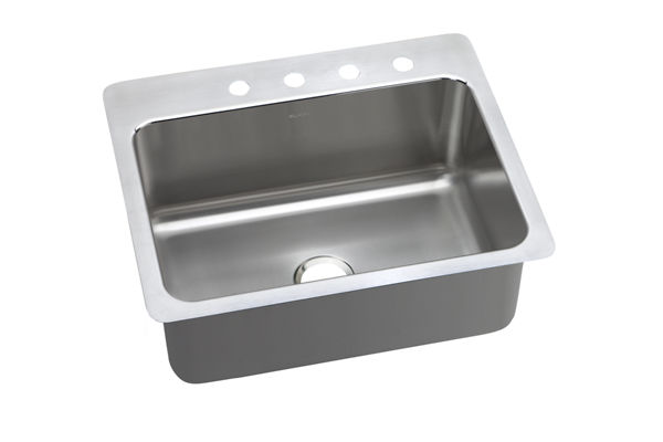 "Elkay Pacemaker Stainless Steel 27"" x 22"" x 10"", Single Bowl Dual Mount Sink"