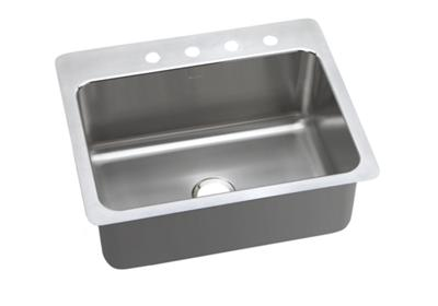 "Image for Elkay Pacemaker Stainless Steel 27"" x 22"" x 10"", Single Bowl Dual Mount Sink from ELKAY"