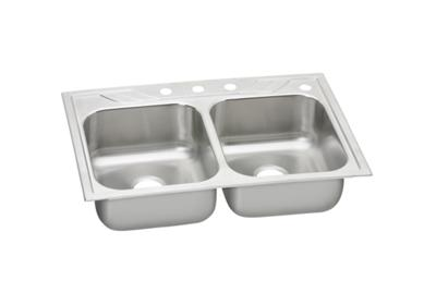 Image for Dayton Premium Stainless Steel Double Bowl Top Mount Sink from ELKAY