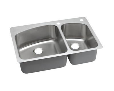 Image for Dayton Premium Stainless Steel Double Bowl Dual / Universal Mount Sink from elkay-consumer