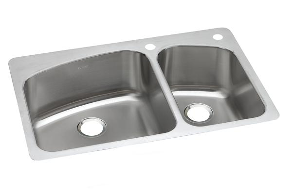 dayton stainless steel 33   x 22   x 8   60 40 double bowl dual mount sink dpxsr2250r dayton stainless steel 33 u0026 34  x 22 u0026 34  x 8 u0026 34  equal double      rh   elkay com