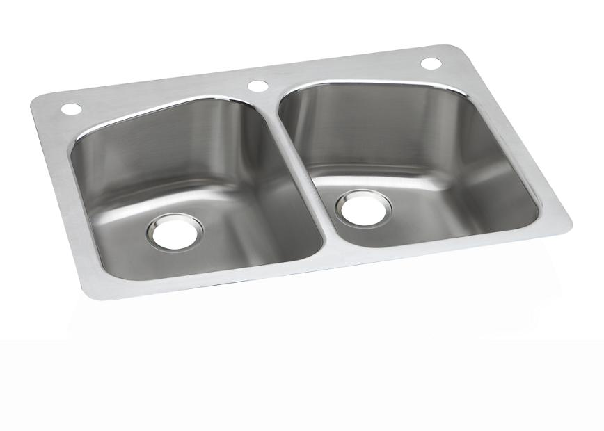 Dayton Stainless Steel 3334 X 2234 X 834 Equal Double Bowl
