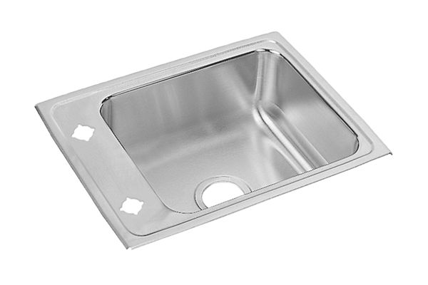 "Elkay Lustertone Stainless Steel 22"" x 17"" x 5-1/2"", Single Bowl Top Mount Classroom Sink"