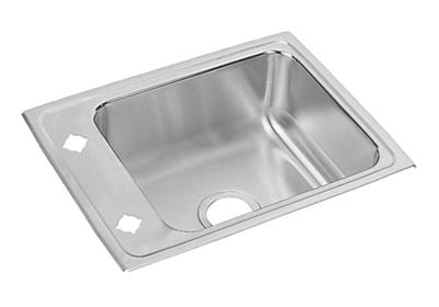 "Image for Elkay Lustertone Stainless Steel 22"" x 17"" x 6"", Single Bowl Top Mount Classroom ADA Sink from ELKAY"