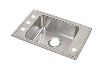 "Image for Elkay Lustertone Stainless Steel 31"" x 19-1/2"" x 6"", Single Bowl Top Mount Classroom ADA Sink from ELKAY"