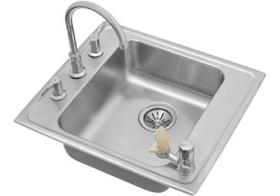 "Image for Elkay Lustertone Stainless Steel 22"" x 19-1/2"" x 5"", Single Bowl Top Mount Classroom ADA Sink + Faucet/Bubbler Kit from ELKAY"