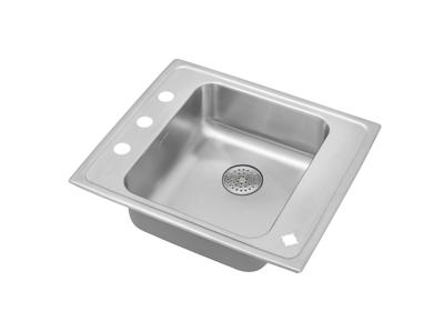 "Image for Elkay Lustertone Stainless Steel 22"" x 19-1/2"" x 6"", Single Bowl Top Mount Classroom ADA Sink w/ Perfect Drain Grid from ELKAY"