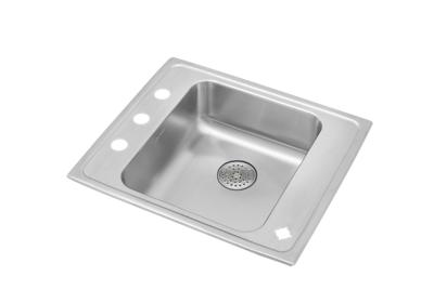"Image for Elkay Lustertone Stainless Steel 25"" x 22"" x 6-1/2"", Single Bowl Top Mount Classroom ADA Sink w/ Perfect Drain Grid from ELKAY"