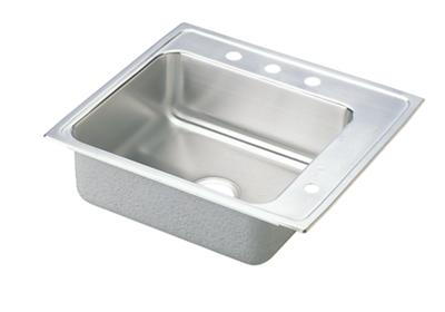 "Image for Elkay Lustertone Stainless Steel 22"" x 19-1/2"" x 4"", Single Bowl Top Mount Classroom Sink from ELKAY"