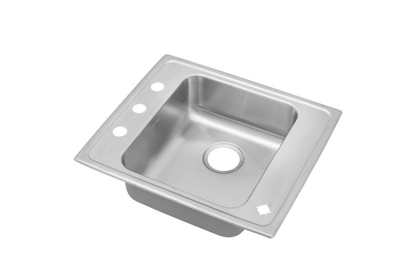 "Elkay Lustertone Stainless Steel 22"" x 19-1/2"" x 5-1/2"", Single Bowl Top Mount Classroom Sink"