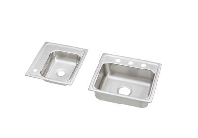 "Image for Elkay Lustertone Stainless Steel 34"" x 17"" x 4-1/2"", Double Bowl Top Mount Classroom Sink + Faucet/Bubbler Kit from ELKAY"