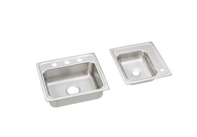 "Image for Elkay Lustertone Stainless Steel 34"" x 17"" x 5"", Double Bowl Top Mount Classroom ADA Sink from ELKAY"