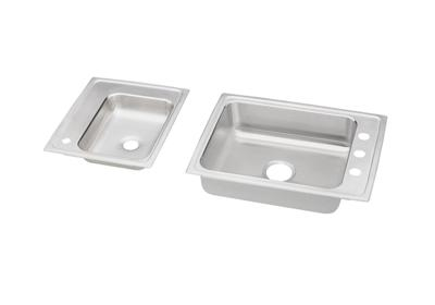 "Image for Elkay Lustertone Stainless Steel 41"" x 19-1/2"" x 4"", Double Bowl Top Mount Classroom Sink from ELKAY"