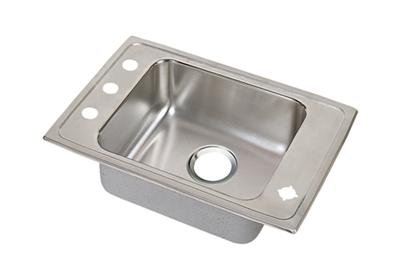"Image for Elkay Lustertone Stainless Steel 25"" x 17"" x 6"", Single Bowl Top Mount Classroom Sink + Faucet/Bubbler Kit from ELKAY"