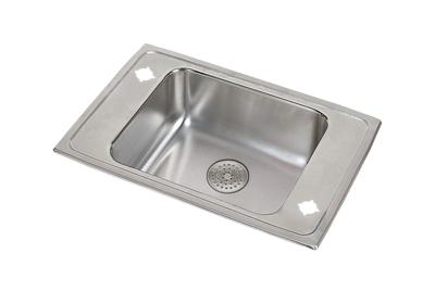 "Image for Elkay Lustertone Stainless Steel 25"" x 17"" x 6-1/2"", Single Bowl Top Mount Classroom ADA Sink w/ Perfect Drain Grid from ELKAY"