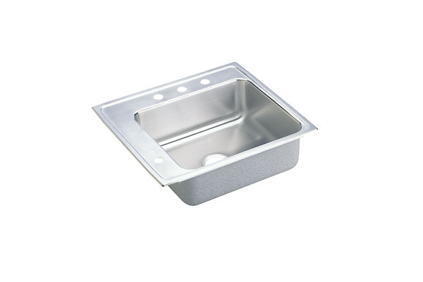 "Elkay Lustertone Classic Stainless Steel 25"" x 22"" x 5-1/2"", Single Bowl Top Mount Classroom ADA Sink"