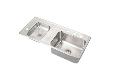 "Image for Elkay Lustertone Stainless Steel 37-1/4"" x 17"" x 4-1/2"", Double Bowl Top Mount Classroom Sink from ELKAY"