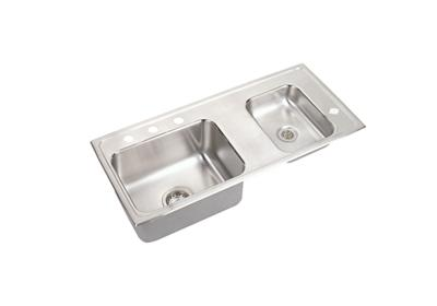 "Image for Elkay Lustertone Stainless Steel 37-1/4"" x 17"" x 5-1/2"", Double Bowl Top Mount Classroom Sink from ELKAY"
