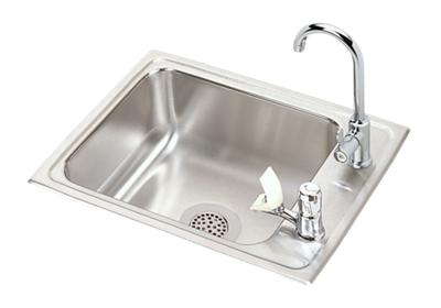 "Image for Elkay Lustertone Classic Stainless Steel 22"" x 17"" x 7-5/8"", Single Drop-in Classroom Sink + Faucet/Bubbler Kit from ELKAY"
