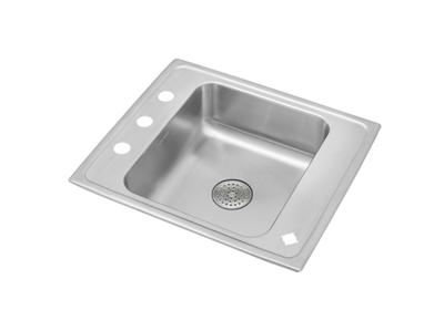 "Image for Elkay Lustertone Stainless Steel 22"" x 19-1/2"" x 7-1/2"", Single Bowl Top Mount Classroom Sink w/ Perfect Drain Grid from ELKAY"