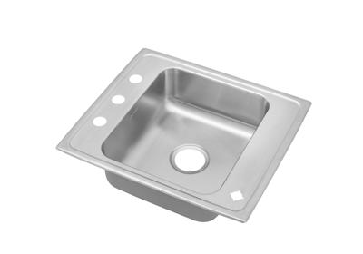 "Image for Elkay Lustertone Stainless Steel 22"" x 19-1/2"" x 7-1/2"", Single Bowl Top Mount Classroom Sink from ELKAY"