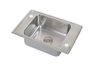 "Image for Elkay Lustertone Stainless Steel 25"" x 22"" x 7-5/8"", Single Bowl Top Mount Classroom Sink with Perfect Drain Grid from ELKAY"